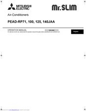 Mitsubishi Electric PEAD-RP125 Operation Manual