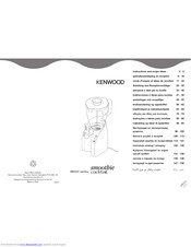 Kenwood Smoothie cocktail SB320 series Instructions And Recipes Manual