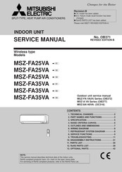 Mitsubishi Electric MSZ-FA25VA Service Manual