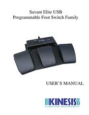 KINESIS SAVANT ELITE USB PROGRAMMABLE DUAL FOOT SWITCH FS20A TESTED