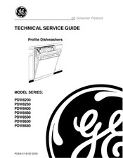 GE Profile PDW8400 Series Technical Service Manual