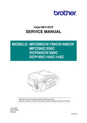 Brother MFC-250C Service Manual