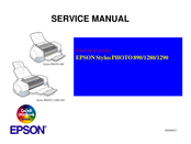 Epson 1280 - Stylus Photo Color Inkjet Printer Service Manual