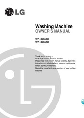 LG WD12570FD Owner's Manual