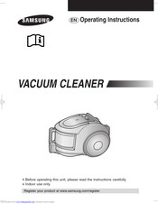 Samsung VACUUM CLEANER Operating Instructions Manual