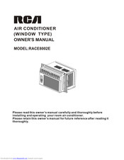 RCA RACE5002E Owner's Manual