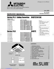 Mitsubishi Electric Mr.SLIM PLA-RP50AA Service Manual
