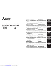 Mitsubishi Electric MSZ-A12YV SERIES Operating Instructions Manual