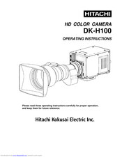 Hitachi DK-Z50 Operating Instructions Manual