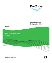 HP procurve switch Management And Configuration Manual