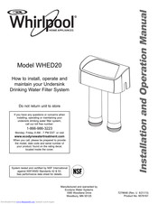 Whirlpool WHED20 Installation And Operation Manual