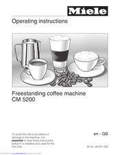Miele CM 5200 Operating Instructions Manual