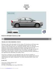 Volvo 2008 S80 Manuals Manualslib