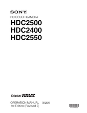 Sony HDC2550 Operation Manual