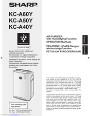Sharp KC-A40Y Operation Manual