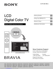 Sony 60EX723 Setup Manual