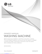 LG WD14030FD6 Owner's Manual