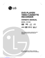 LG DV1000 Owner's Manual
