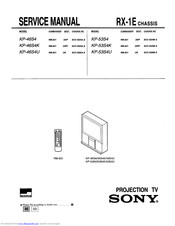 Sony KP-53S4 Service Manual