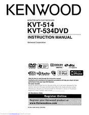 [DIAGRAM_1CA]  KENWOOD KVT-514 INSTRUCTION MANUAL Pdf Download | ManualsLib | Kenwood Kvt 512 22 Pin Wiring Diagram |  | ManualsLib