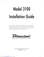Directed electronics 3100 Manuals | ManualsLibManualsLib