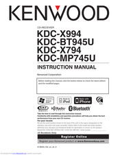 Kenwood KDC-X994 Manuals on