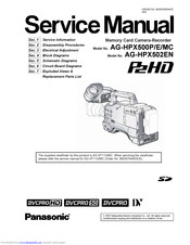 Panasonic AG-HPX500MC Service Manual