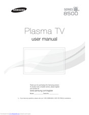 Samsung PN51F8500 User Manual