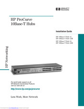 HP ProCurve10Base-T 24 Installation Manual