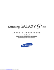 Samsung Galaxy S4mini User Manual