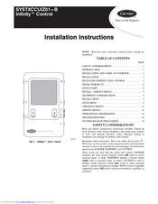 CARRIER INFINITY CONTROL INSTALLATION INSTRUCTIONS MANUAL Pdf Download |  ManualsLib