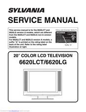 Sylvania 6620lct A Service Manual Pdf Download Manualslib
