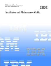 IBM Distributed Power Interconnect Rack Power Distribution Unit Installation And Maintenance Manual