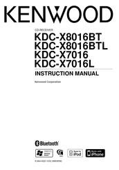 KENWOOD KDC-X8016BT INSTRUCTION MANUAL Pdf Download
