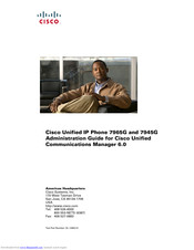 Cisco 7965G - Unified IP Phone VoIP Administration Manual