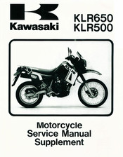 kawasaki klr 250 wiring diagram free download kawasaki klr650 service manual supplement pdf download  kawasaki klr650 service manual