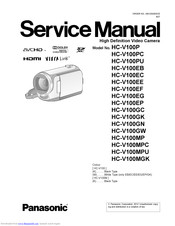 panasonic HC-V100P Service Manual