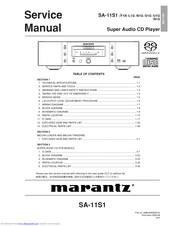 Bedienungsanleitung-Operating Instructions für Marantz SA-11 S2