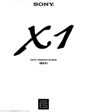 Sony XES-X1 Owner's Manual
