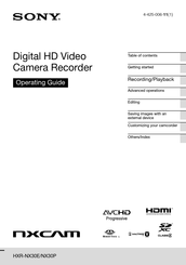 Sony NXCAM HXR-NX30E Operating Manual