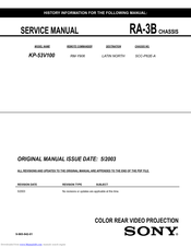 Sony KP-53V100 Service Manual