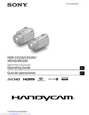 Sony camcorder hdr-xr550 user guide | manualsonline. Com.