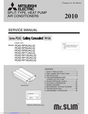 Mitsubishi Electric Mr.Slim PEAD-RP60JAQ Service Manual