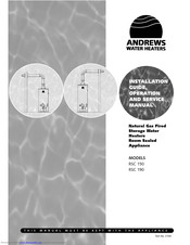 Andrews RSC 190 Installation Manual, Operation And Service Manual