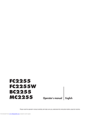 Husqvarna MC2255 Operator's Manual