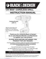 Black & Decker BDCR20 Instruction Manual