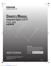 Toshiba 40CV550A Owner's Manual