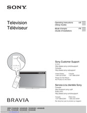 Sony 55X830B Operating Instructions Manual