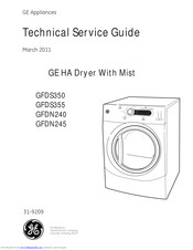 GE GFDN240 Technical Service Manual