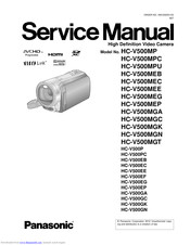 Panasonic HC-V500MP Service Manual